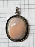 Серебряные кольцо и кулон с сердоликом Ручная работа, фото №3