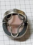 Серебряные кольцо и кулон с сердоликом Ручная работа, фото №9