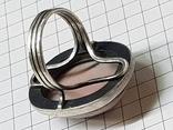 Серебряные кольцо и кулон с сердоликом Ручная работа, фото №11