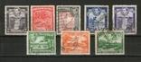 Брит. колонии. 1938 Британская Гвиана, типы, карта, виды, лот 8 шт., фото №2