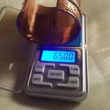 Медный браслет со вставками из латуни, фото №4