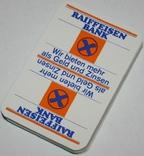 """Игральные карты """"Raiffeisen Bank"""" 1980 г. (сокращ.колода,32 листа) Германия"""