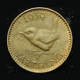 Великобритания фартинг 1939 Unc, фото №3