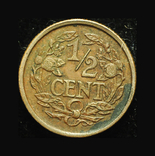 Нидерланды 1/2 цента 1909, фото №2