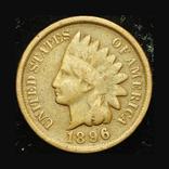 США 1 цент 1896, фото №2