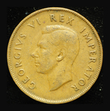 Британская Южная Африка пенни 1943, фото №3