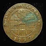 Великобритания 1/2 пенни 1792 Норвич, фото №2