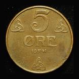 Норвегия 5 эре 1941, фото №2