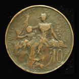 Франция 10 сантим 1899, фото №3