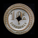 Французкие колонии 10 сентим 19 век, фото №2