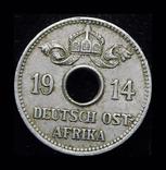 Германская Африка 5 геллеров 1914 J, фото №2