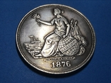 1 доллар сша 1876 г. Торговый доллар. Копия, фото №2