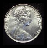 Австралия 50 центов 1966 Unc серебро 13.28 грамм 800 пробы, фото №3