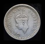 Британская Индия 1/2 рупии 1942 серебро, фото №3