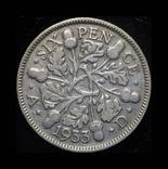 Великобритания 6 пенсов 1933 серебро, фото №2