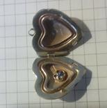 Кулон, серебро 875 с головой, фото №2