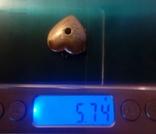 Кулон, серебро 875 с головой, фото №6
