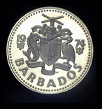 Барбадос 2 доллара 1974 пруф, фото №3