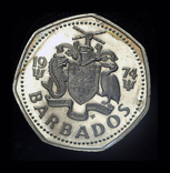 Барбадос 1 доллар 1974 пруф, фото №3