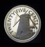 Барбадос 25 центов 1974 пруф, фото №2