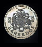 Барбадос 25 центов 1974 пруф, фото №3