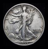 США 1/2 доллара 1935 серебро , фото №2