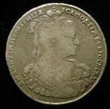 Полтина 1734 Биткин R2 Лирический портрет корона разделяет круговую надпись, фото №2