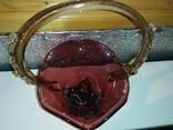 Конфетница (СССР,цветное стекло), фото №3