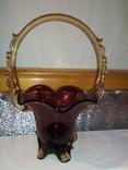 Конфетница (СССР,цветное стекло), фото №2