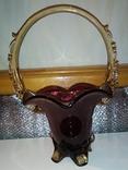Конфетница (СССР,цветное стекло), фото №7