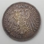3 марки 1915 Мекленбург Шверин 100 лет династии, фото №3