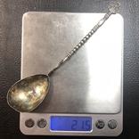 Серебряная ложечка 875 пробы, фото №5