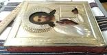 Икона в киоте. Господь Вседержитель, в серебряном окладе, фото №13