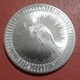 1 доллар 2019 года Австралия Кенгуру, 1oz 9999, фото №2