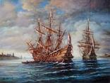"""Ships"" 30x40 2020, фото №2"