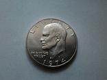 США 1 доллар 1974 S Эйзенхауэр / серебро, фото №3