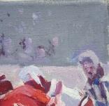 "В.Кнышевский""Секунда и гол"", х м.40*50см, 1980г, фото №6"