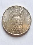 1 крона 1952 Швеція срібло, фото №2