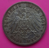 3 марки, Пруссия, 1909г, фото №4