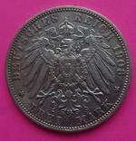 3 марки, Бавария, 1908г, фото №5