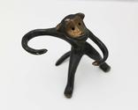 Подставка для специй обезьяна СССР бронза солонка перечница, фото №2