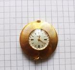 """Часы - кулон """"Чайка"""" в позолоте Ау, рабочие, фото №2"""