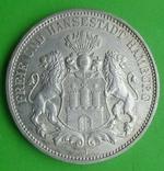 3 марки, Гамбург, 1909 г, фото №3