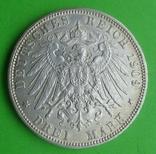 3 марки, Гамбург, 1909 г, фото №4
