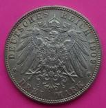 3 марки, Гамбург, 1909 г, фото №5