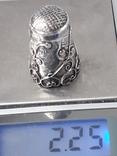 Напёрсток, наперсток, серебро, 2.25 грамма, Западная Европа или Латинская Америка, фото №12