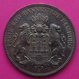 3 марки, Гамбург, 1910г, фото №2