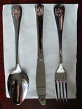 Столовый прибор : Ложка + Вилка + Нож с Тризубом, фото №4