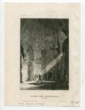 Старинная гравюра. 1839. Индия. Внутри Храма Бога. 21х15см, фото №5