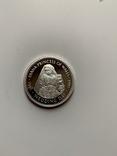 Либерия. 20 долларов. 1997 г. Серебро. 999 пр. 31,1 гр., фото №2